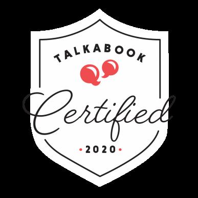 Talkabook Certified Logo